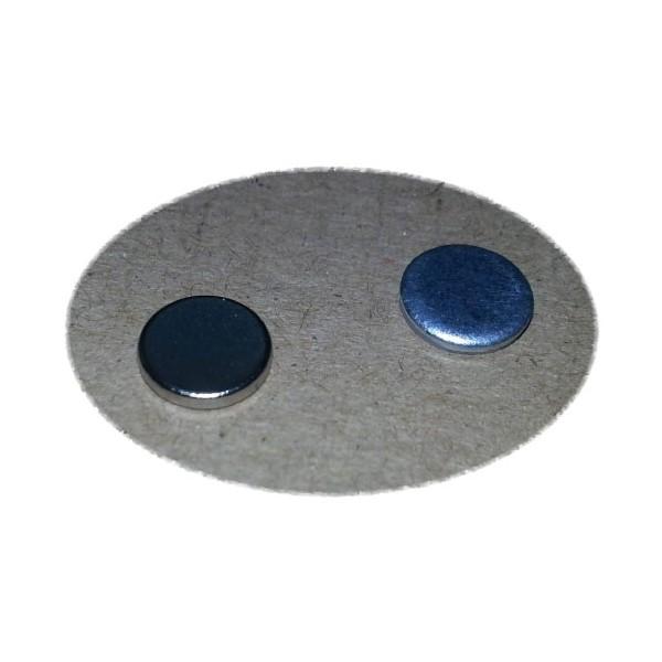 Ответная часть для магнита 8х1,5 мм с магнитом 8х1,5 мм