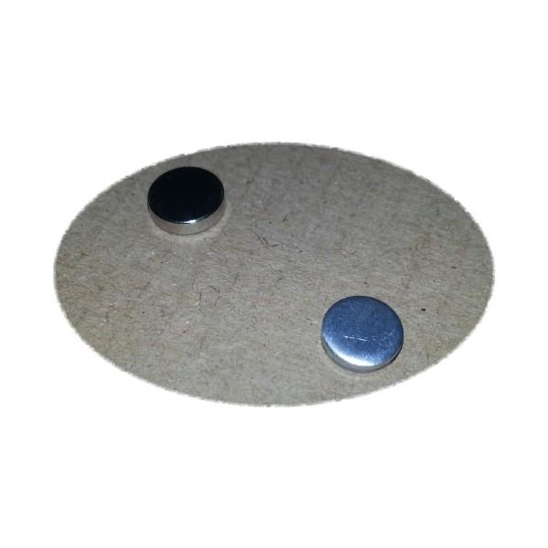 Ответная часть для магнита 8х2 мм с магнитом 8х2 мм