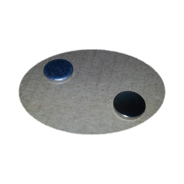 Ответная часть для магнита 10х1,5 мм с магнитом 10х1,5 мм