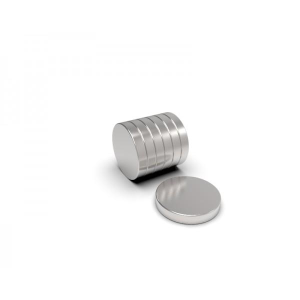Магнит постоянный неодимовый 6 x 1 мм