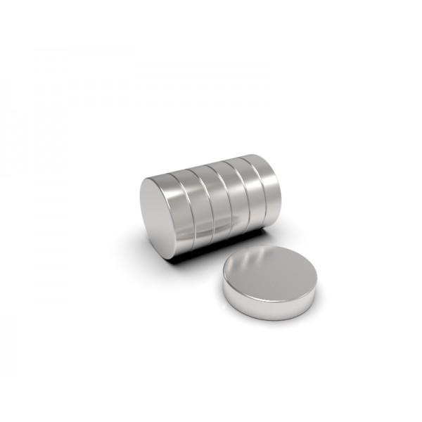 Магнит постоянный неодимовый 6х1,5 мм