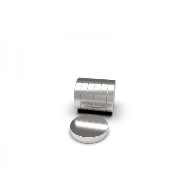 Магнит постоянный неодимовый 8 x 1,5 мм