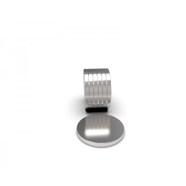 Магнит постоянный неодимовый 10 x 1 мм