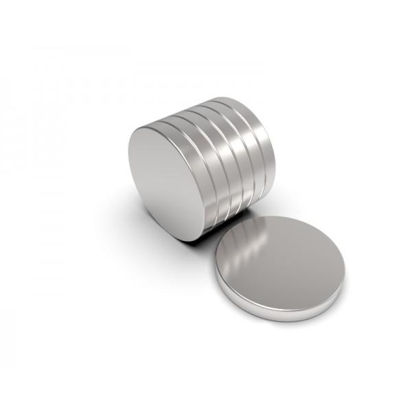 Магнит постоянный неодимовый 15 x 2 мм