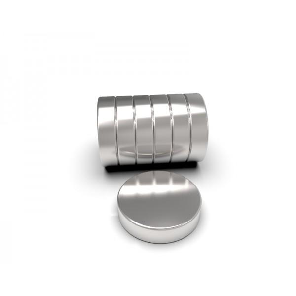 Магнит постоянный неодимовый 20 x 5 мм