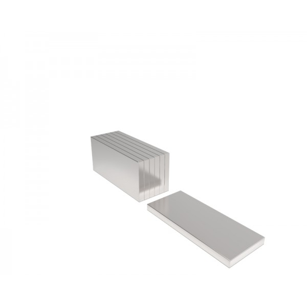 Магнит постоянный неодимовый 20х10х1,5 мм (форма блок)