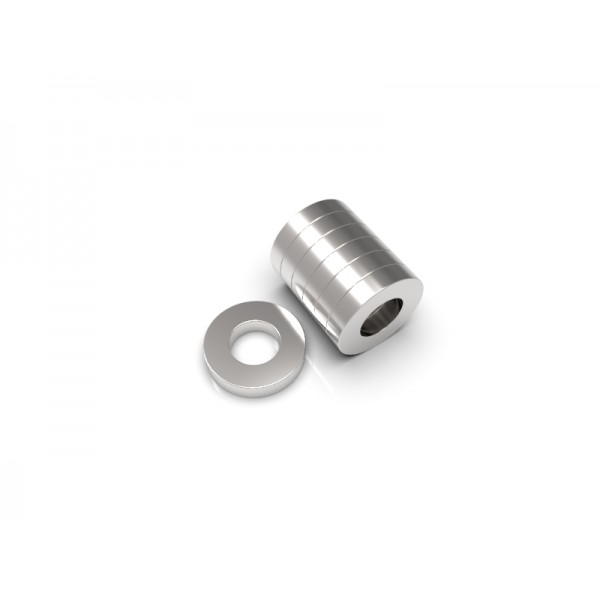 Магнит постоянный неодимовый 10 x 5 x 2 мм (форма кольцо)