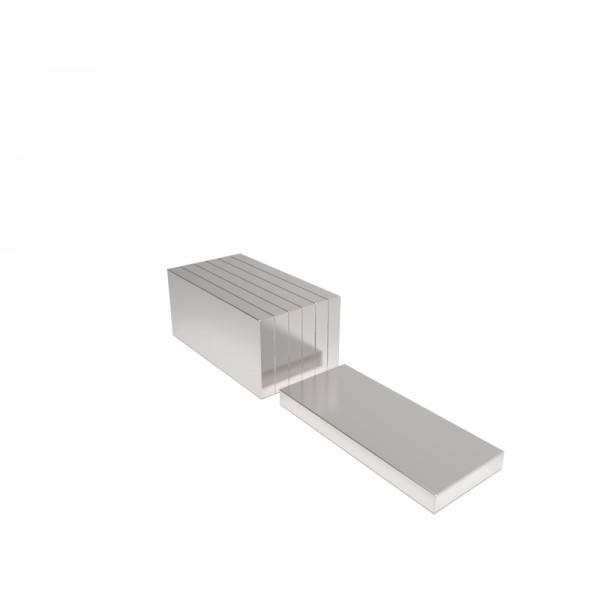 Магнит постоянный неодимовый 20х10х2 мм (форма блок)