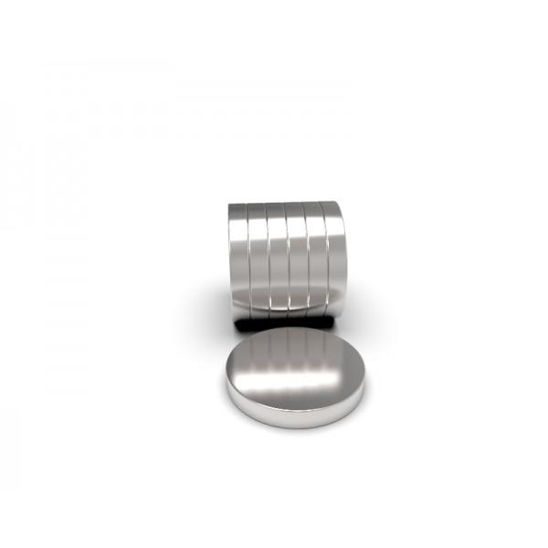 Магнит постоянный неодимовый 20 x 1,5 мм