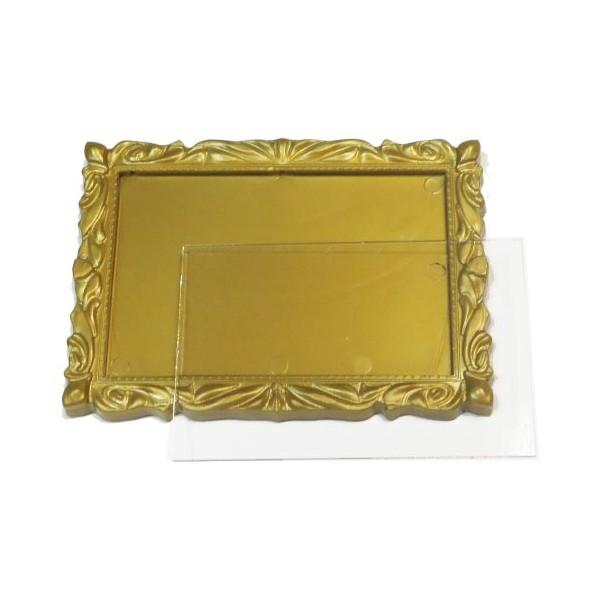 Акриловый магнит багет 90х65 мм цвет бронзовый
