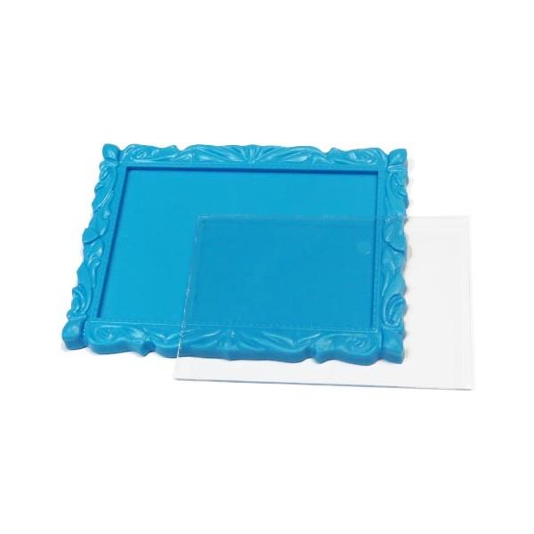 Акриловый магнит (заготовка) багет 90х65 мм цвет голубой