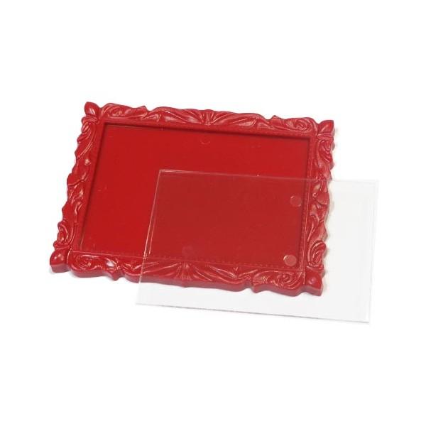 Акриловый магнит багет 90х65 мм цвет красный