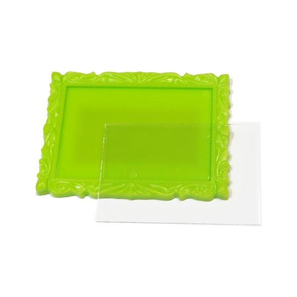 Акриловый магнит (заготовка) багет 90х65 мм цвет салатовый