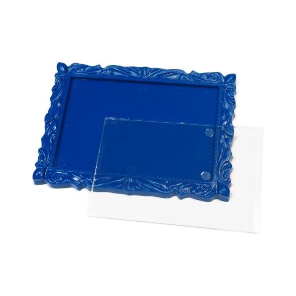 Акриловый магнит багет 90х65 мм цвет синий