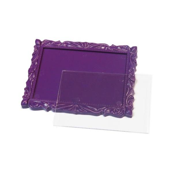 Акриловый магнит багет 90х65 мм цвет фиолетовый