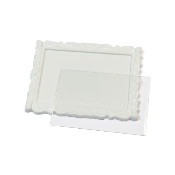Акриловый магнит багет 90х65 мм цвет белый