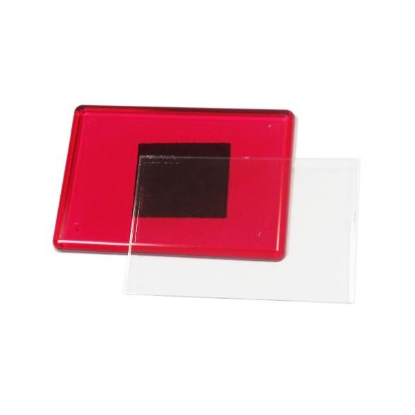 Акриловый магнит 55х80 мм цвет красный
