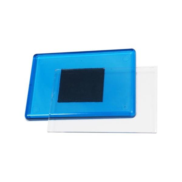 Акриловый магнит 55х80 мм цвет синий