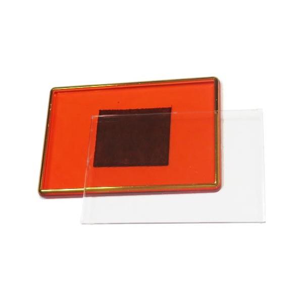 Акриловый магнит 55х80 мм цвет красный с позолотой