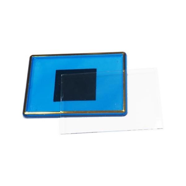 Акриловый магнит 55х80 мм цвет синий с позолотой