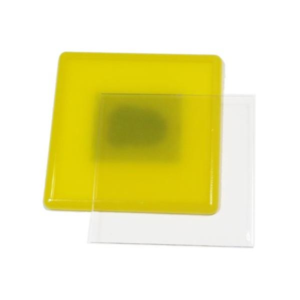 Акриловый магнит 65х65 мм цвет жёлтый