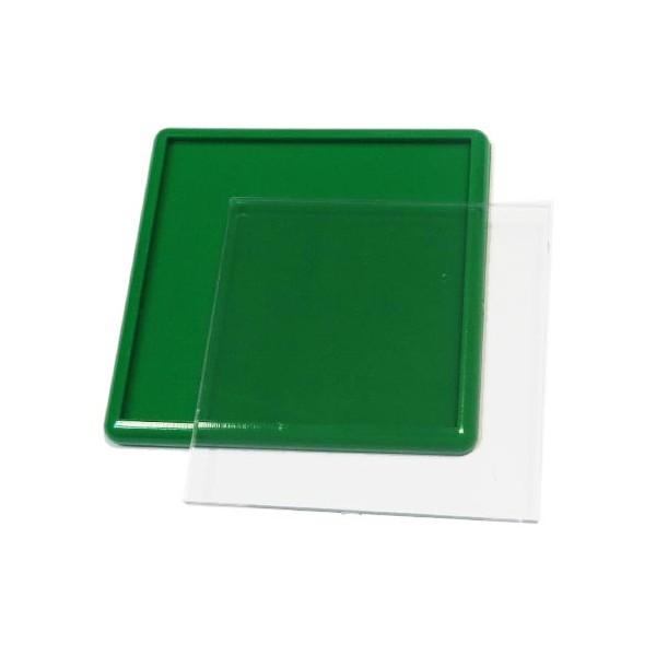 Акриловый магнит 65х65 мм цвет зелёный