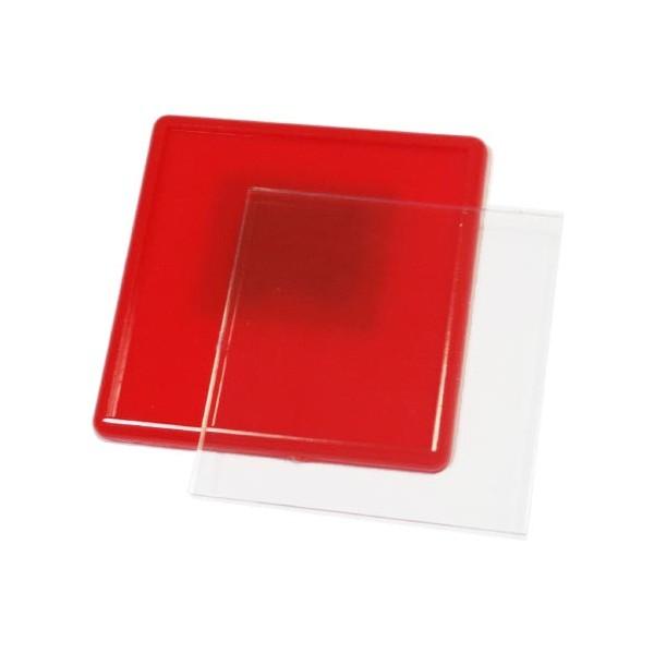 Акриловый магнит 65х65 мм цвет красный