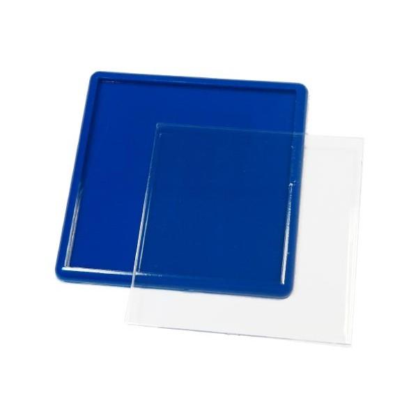 Акриловый магнит 65х65 мм цвет синий