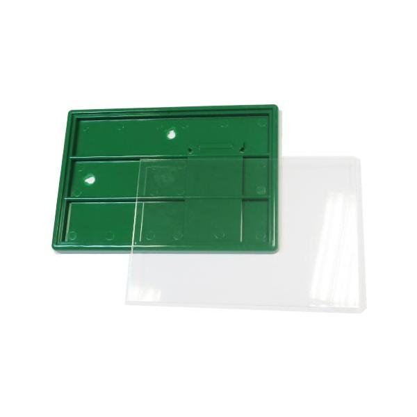 Акриловая заготовка под фото 10х15 см цвет зелёный