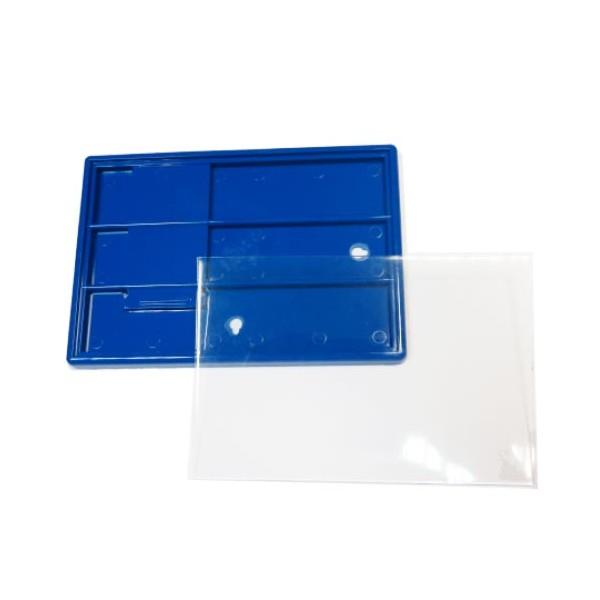 Акриловая заготовка под фото 10х15 см цвет синий