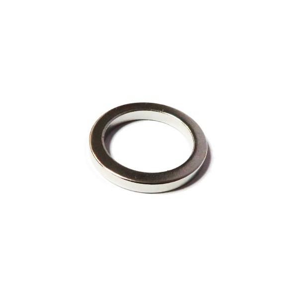 Магнит постоянный неодимовый 24х18х3 мм (форма кольцо)