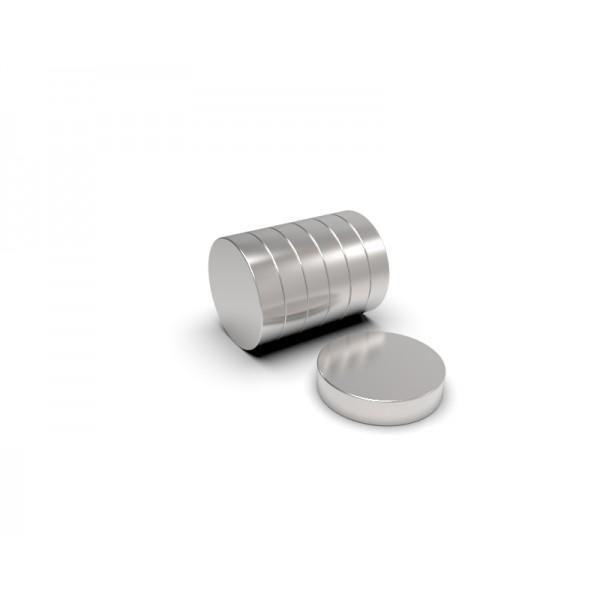 Магнит постоянный неодимовый 9,5 x 2,5 мм