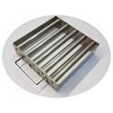 Магнитная решетка, двухрядная с очисткой 300х300х25 (9 стержней D25 мм)