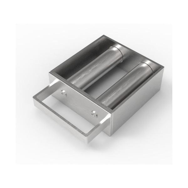 Магнитная решетка с очисткой 100х100х25 (2 стержня D25 мм)