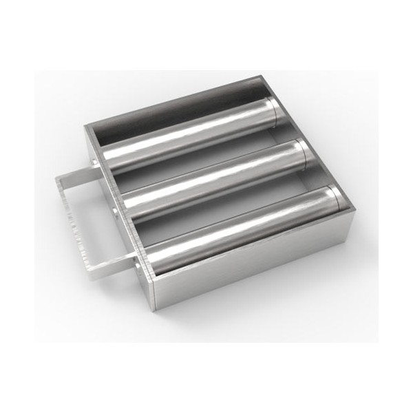 Магнитная решетка с очисткой 150х150х25 (3 стержня D25 мм)