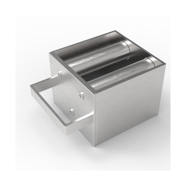 Магнитная решетка, двухрядная с очисткой 100х100х25 (3 стержня D25 мм)