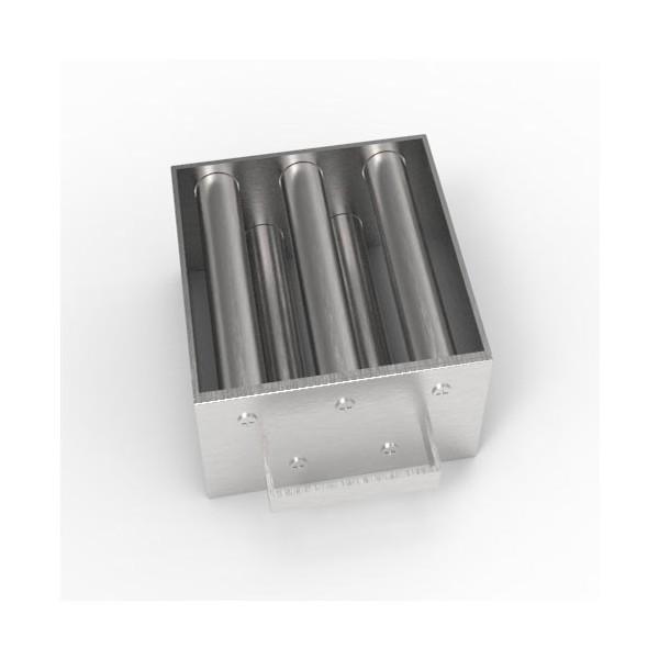 Магнитная решетка, двухрядная с очисткой 150х150х25 (5 стержней D25 мм)