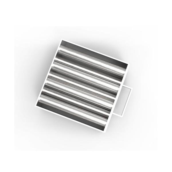 Магнитная решетка, двухрядная с очисткой 200х200х25 (7 стержней D25 мм)