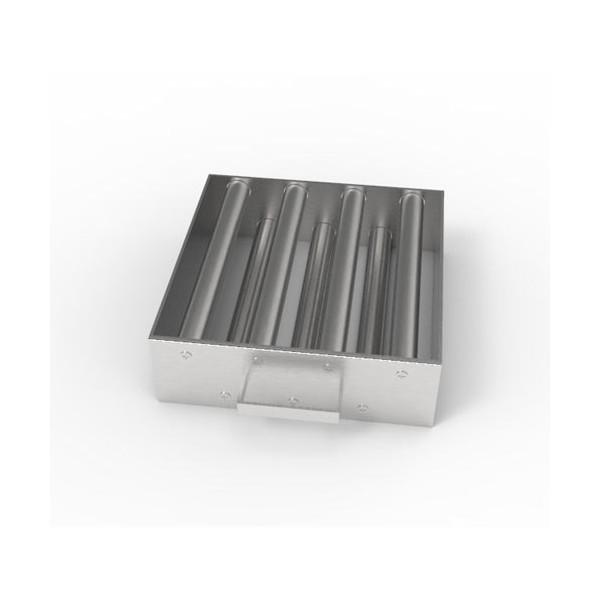 Магнитная решетка, двухрядная с очисткой 250х250х25 (7 стержней D25 мм)