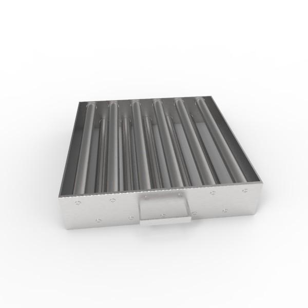Магнитная решетка, двухрядная с очисткой 350х350х25 (11 стержней D25 мм)