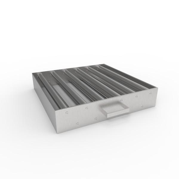 Магнитная решетка, двухрядная с очисткой 400х400х25 (11 стержней D25 мм)