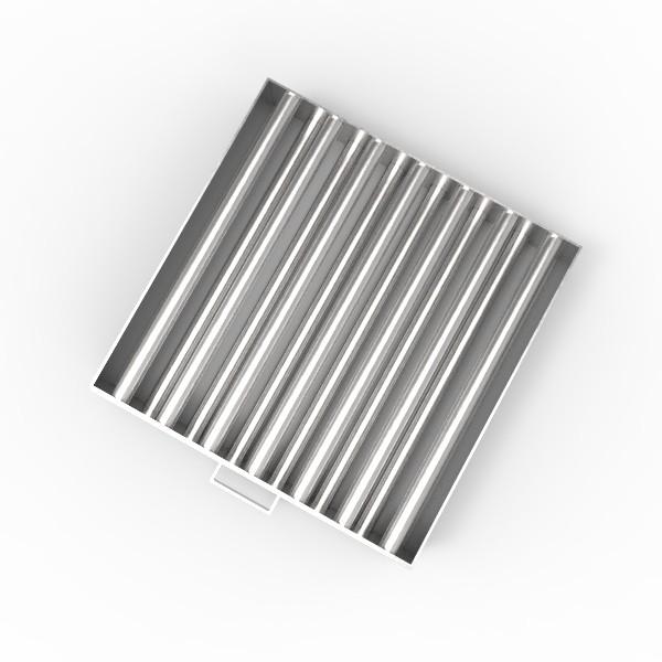 Магнитная решетка, двухрядная с очисткой 450х450х25 (13 стержней D25 мм)