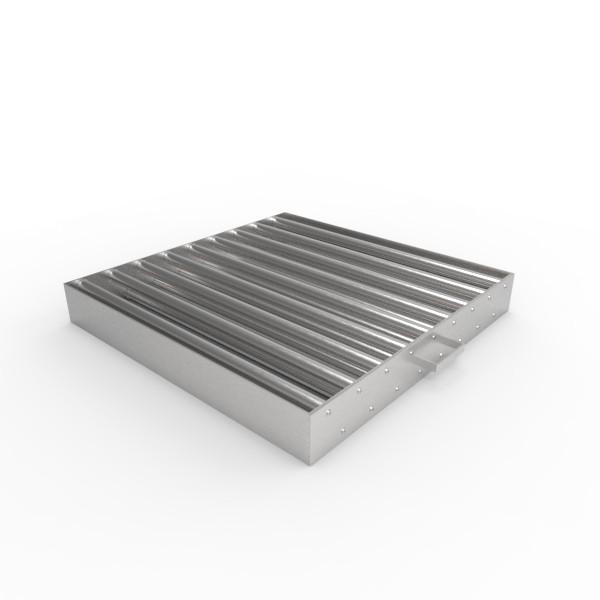 Магнитная решетка, двухрядная с очисткой 600х600х25 (17 стержней D25 мм)