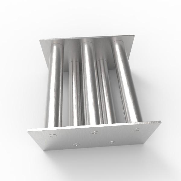 Магнитная решетка, двухрядная 150х150х22 (5 стержней D22 мм)