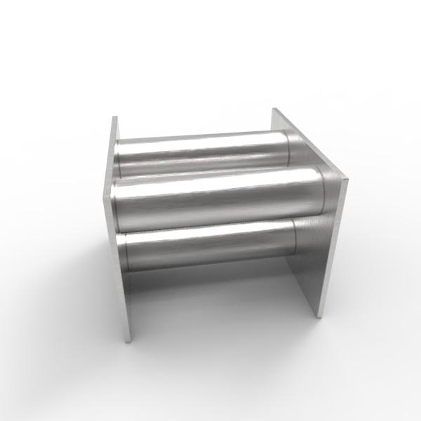 Магнитная решетка, двухрядная 100х100х25 (3 стержня D25 мм)