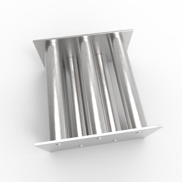 Магнитная решетка, двухрядная 150х150х25 (5 стержней D25 мм)